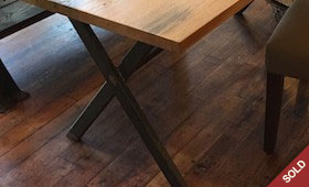 Reclaimed Wood and Metal Desk/Table
