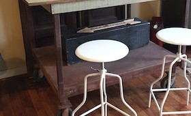 Bar Height Industrial Work Table/Island