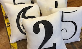 Number Pillows
